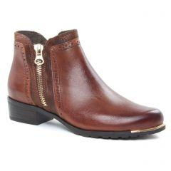 Caprice 25403 Cognac : chaussures dans la même tendance femme (boots marron) et disponibles à la vente en ligne