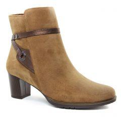 boots marron doré: même style de chaussures en ligne pour femmes que les Maria Jaén