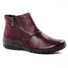 boots borbeaux: même style de chaussures en ligne pour femmes que les Rieker