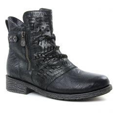 Chaussures femme hiver 2018 - boots Remonte noir argent