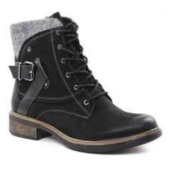 bottines-a-lacets noir gris: même style de chaussures en ligne pour femmes que les Marco Tozzi