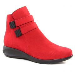 Chaussures femme hiver 2018 - boots Hirica rouge