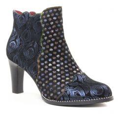 boots-talon bleu multi: même style de chaussures en ligne pour femmes que les Laura Vita