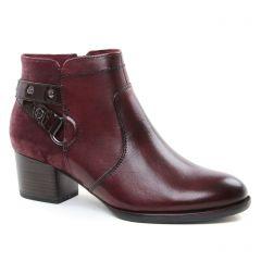 boots-talon bordeaux: même style de chaussures en ligne pour femmes que les Tamaris