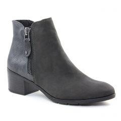 Marco Tozzi 25036 Anthracite : chaussures dans la même tendance femme (boots-talon gris argent) et disponibles à la vente en ligne