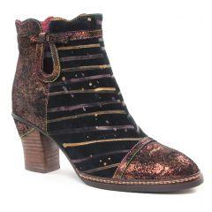 Chaussures femme hiver 2018 - boots talon Laura Vita doré multi