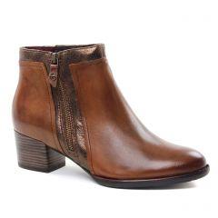 boots-talon marron doré: même style de chaussures en ligne pour femmes que les Laura Vita