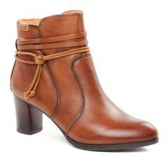 boots-talon marron gold: même style de chaussures en ligne pour femmes que les Pikolinos