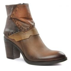 boots-talon marron multi: même style de chaussures en ligne pour femmes que les Scarlatine