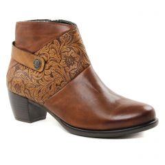boots-talon marron: même style de chaussures en ligne pour femmes que les Rieker