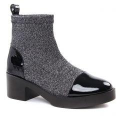 Chaussures femme hiver 2018 - boots talon Gioseppo noir argent