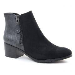 Marco Tozzi 25036 Black : chaussures dans la même tendance femme (boots-talon noir argent) et disponibles à la vente en ligne