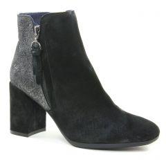 boots-talon noir bronze argent: même style de chaussures en ligne pour femmes que les Tamaris