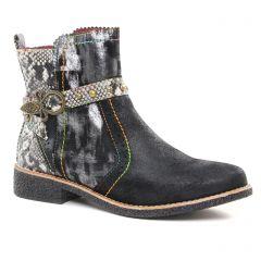 boots-talon noir bronze: même style de chaussures en ligne pour femmes que les Pikolinos