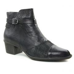boots-talon noir gris noir: même style de chaussures en ligne pour femmes que les Dorking