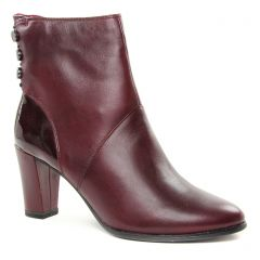 boots-talon rouge bordeaux: même style de chaussures en ligne pour femmes que les Laura Vita