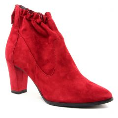 Chaussures femme hiver 2018 - boots talon tamaris rouge