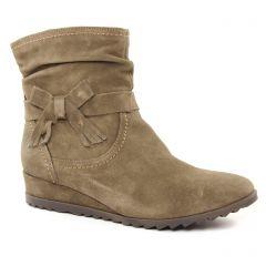 boots taupe beige: même style de chaussures en ligne pour femmes que les Tamaris
