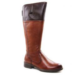 bottes-cavalieres marron: même style de chaussures en ligne pour femmes que les Marco Tozzi