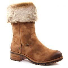 bottes-talon marron: même style de chaussures en ligne pour femmes que les Rieker