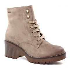 bottines-a-lacets beige: même style de chaussures en ligne pour femmes que les Mtng