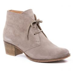 Chaussures femme hiver 2018 - bottines à lacets scarlatine beige