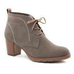 bottines-a-lacets beige taupe: même style de chaussures en ligne pour femmes que les Marco Tozzi