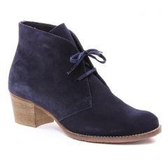 Chaussures femme hiver 2018 - bottines à lacets scarlatine bleu marine