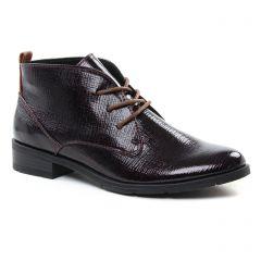 Chaussures femme hiver 2018 - bottines à lacets marco tozzi bordeaux