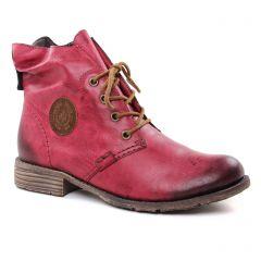 Rieker 74748-35 Wine Mog : chaussures dans la même tendance femme (bottines-a-lacets bordeaux) et disponibles à la vente en ligne