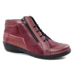 bottines-a-lacets bordeaux: même style de chaussures en ligne pour femmes que les Suave
