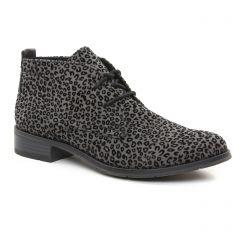 bottines-a-lacets gris léopard: même style de chaussures en ligne pour femmes que les Tamaris