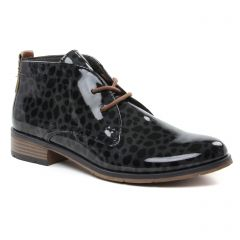 Chaussures femme hiver 2018 - bottines à lacets marco tozzi gris noir