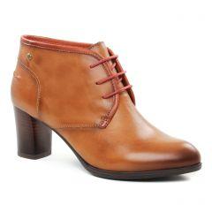 Chaussures femme hiver 2018 - bottines à lacets Pikolinos marron gold