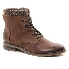 bottines-a-lacets marron: même style de chaussures en ligne pour femmes que les Tamaris