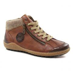 Chaussures femme hiver 2018 - baskets mode Remonte marron