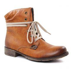 Chaussures femme hiver 2018 - bottines à lacets rieker marron