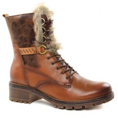 Chaussures femme hiver 2018 - bottines à lacets tamaris marron
