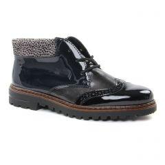 Chaussures femme hiver 2018 - bottines à lacets rieker noir bleu gris