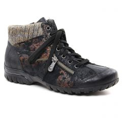 baskets-fourrees noir doré: même style de chaussures en ligne pour femmes que les Rieker