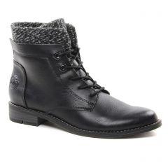 Chaussures femme hiver 2018 - bottines à lacets marco tozzi noir gris