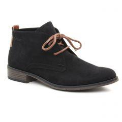 Chaussures femme hiver 2018 - bottines à lacets marco tozzi noir