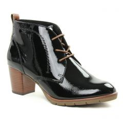 Chaussures femme hiver 2018 - bottines à lacets marco tozzi noir marron