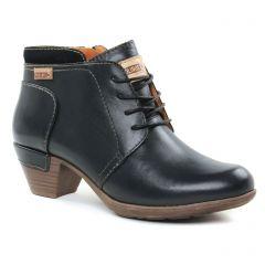 Chaussures femme hiver 2018 - bottines à lacets Pikolinos noir