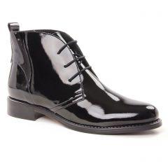 bottines-a-lacets noir vernis: même style de chaussures en ligne pour femmes que les Tamaris