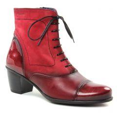 bottines-a-lacets rouge bordeaux: même style de chaussures en ligne pour femmes que les Dorking