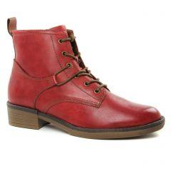 bottines-a-lacets rouge bordeaux: même style de chaussures en ligne pour femmes que les Marco Tozzi