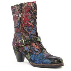 bottillons-a-lacets multicolore: même style de chaussures en ligne pour femmes que les Laura Vita