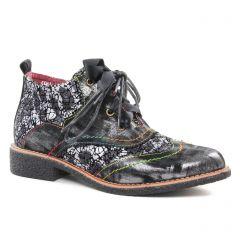 bottines-a-lacets rouge noir: même style de chaussures en ligne pour femmes que les Laura Vita