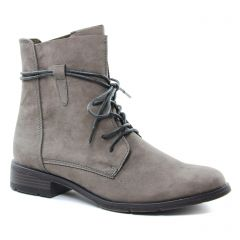 Chaussures femme hiver 2018 - bottines à lacets marco tozzi taupe